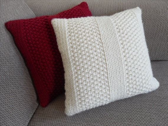 97 Best Knit Pillows Images On Pinterest Knit Pillow Knitted