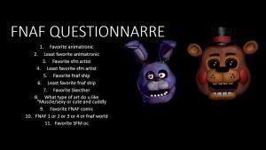 Fnaf questionnaire by eyeofpeace