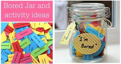 The Homestead Survival | I Am Bored Activities Jar With Free Print Out Tabs | http://thehomesteadsurvival.com