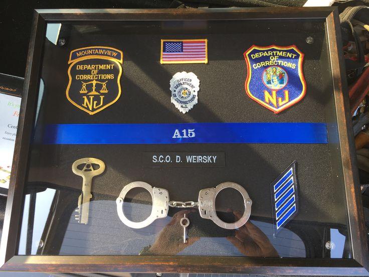 NJDOC Correction Officer shadow box