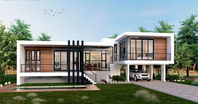 Single Story Three Bedroom House Plan Designed To Be Built In 233 Square Meters แบบบ านโมเด ร น แปลนบ าน สถาป ตยกรรมบ าน
