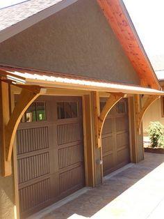Image Result For Timber Frame Awning Over Garage Door Garage In