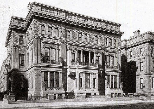 The Vanderbilt Mansion on Fifth Avenue, Built in 1880 (A twin mansion can be seen on right.)
