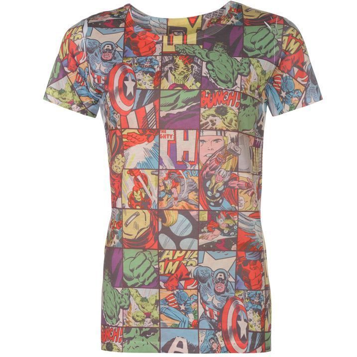 #Ladies womens #retro #marvel avengers thor hulk ironman comic book strip t-shirt,  View more on the LINK: http://www.zeppy.io/product/gb/2/272335103411/
