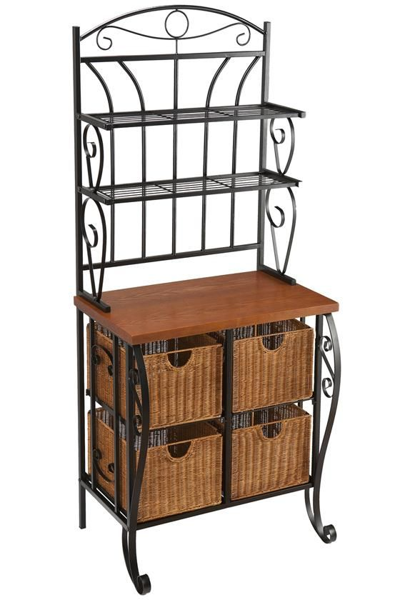 bakers racks with storage | Dartmouth Baker's Rack - Baker's Racks - Kitchen And Dining Room ...