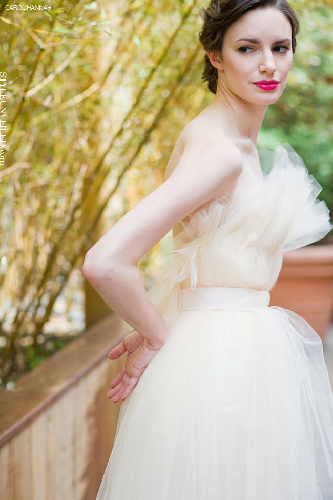 Wedding Dresses: Fabulously Flirty Wedding Dresses with Front Ruffled Accents by Carol Hannah Whitfield // via Style Unveiled