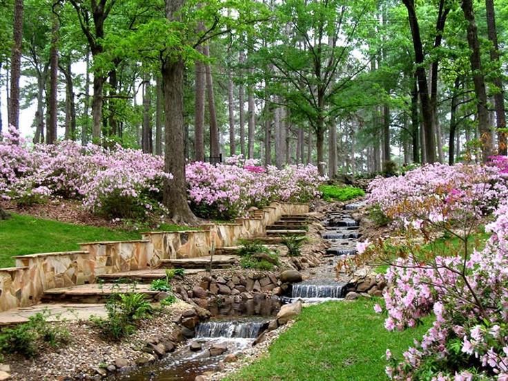 Gardens of the R.W. Norton Art Gallery in Shreveport, Louisiana