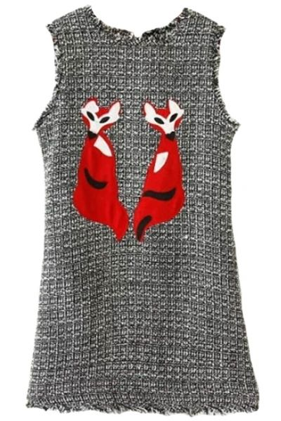 Graphic Fox Heather Grey Mini Shift Vest DressOASAP Giveaway, 10 pieces per day, till the end of 2014! Easiest way to get free clothing!