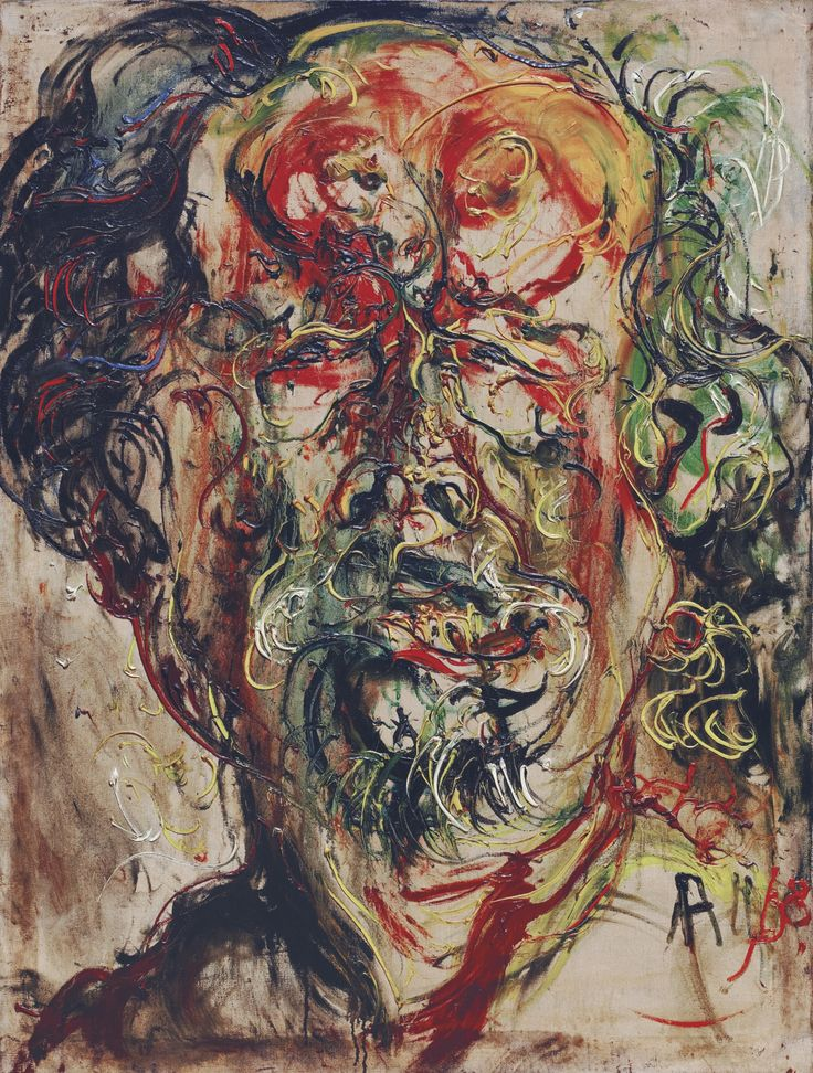 Affandi (1907-1990), SELF-PORTRAIT, 1968, Oil on canvas, 129.5 x 97.5 cm