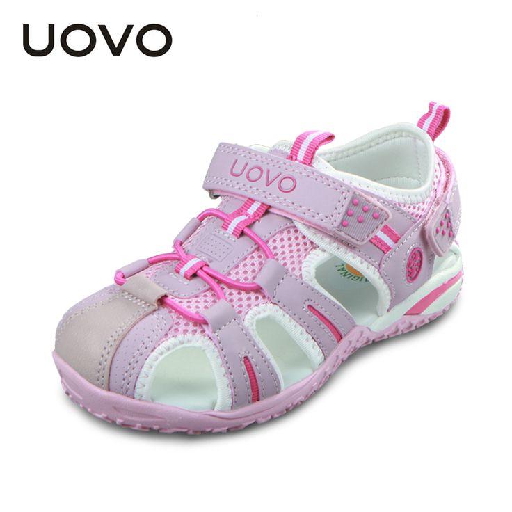 UOVO Sepatu Anak-anak Perempuan Laki-laki Sepatu Sandal Musim Panas Sandal Kaki Tertutup untuk Anak-anak Kecil Besar Anak Pantai Sandal