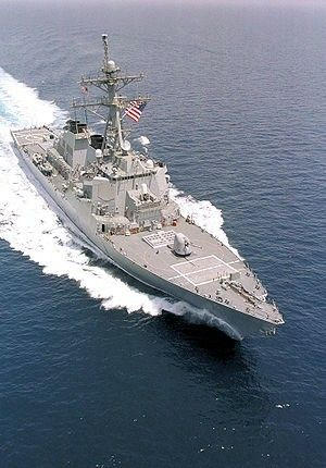 USS Curtis Wilbur (DDG-54) The fourth Arleigh Burke-class guided missile destroyer.