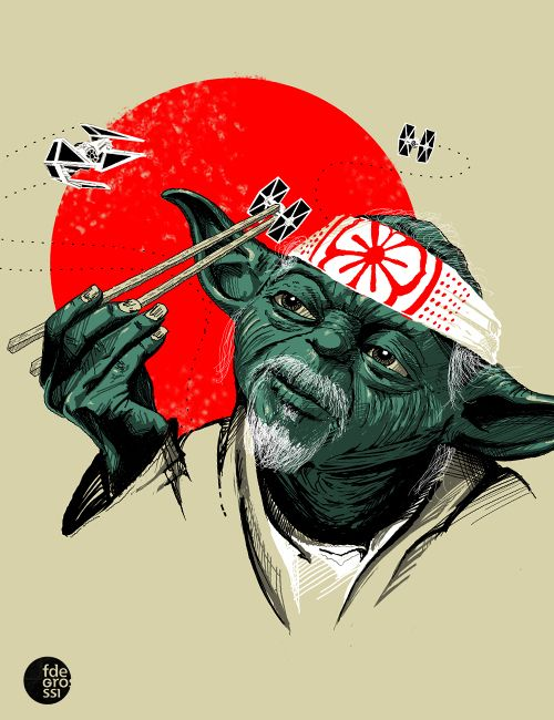 Accomplish anything, man who catch Tie Fighter with chop stick does.