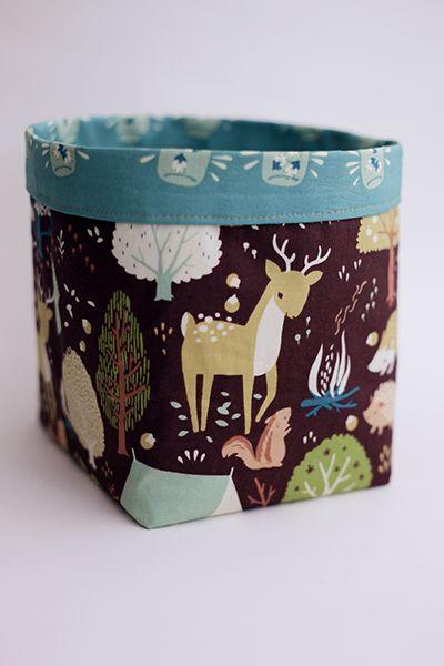 birchfabrics: Tutorial: fabric bins featuring fort firefly by christina mckinney {a Pellon® & Birch Fabrics partnered project}