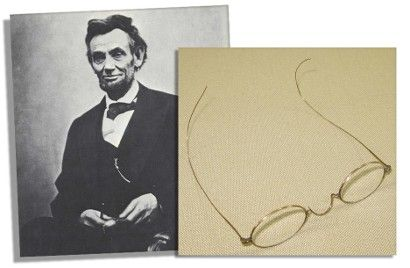 """'I, Robert Todd Lincoln Beckwith of Washington, D.C., certify that among the contents of a trunk located and unopened until recently, and placed in the attic of Hildene, the estate of my grandfather Robert Todd Lincoln, Manchester, Vermont, by my grandmother Mary Harlan Lincoln (Mrs. Robert Todd Lincoln)... were found two pair of eye glasses which had belonged to my great grandfather President Abraham Lincoln, and so marked by my grandmother Mary Harlan Lincoln."""""""