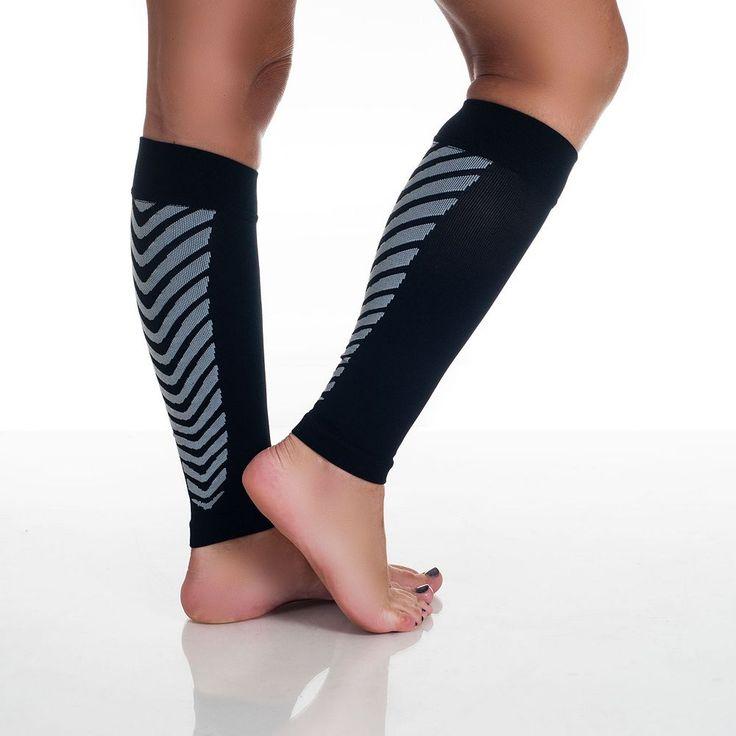 Calf Compression Running Sleeve Socks - Adult, Black