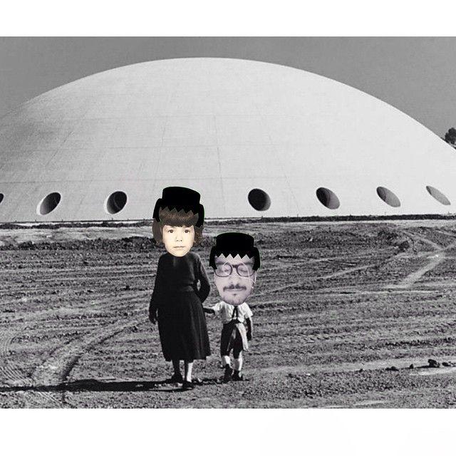 tipo #curupira, na #oca ou no #discovoador do #parquedoibirapuera com o #boneco #playmobil da @idafeldman e @gilgarcia69 || #arte: #idafeldman