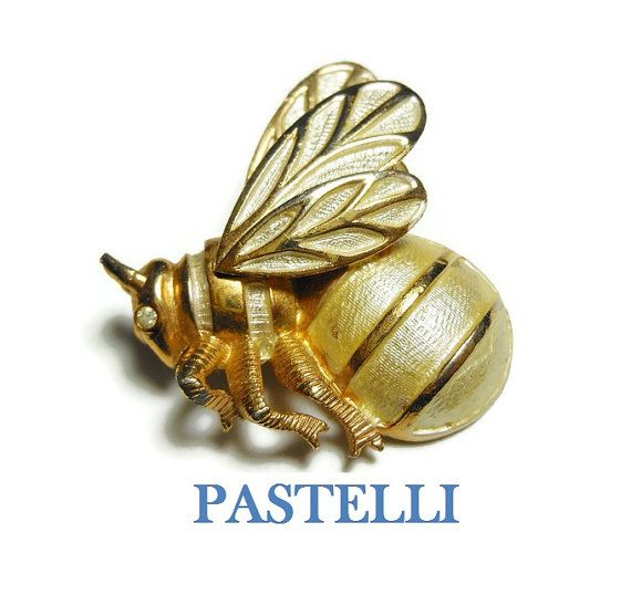 Pastelli bumble bee brooch signed Pastelli by maggiescornerstore
