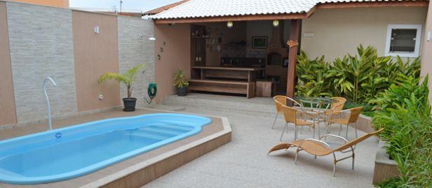 Projetos de área de lazer com churrasqueira e piscina