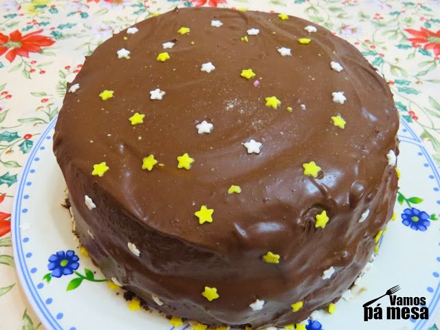 Fluffy chocolate cake- I may provide recipe in english if asked :-)