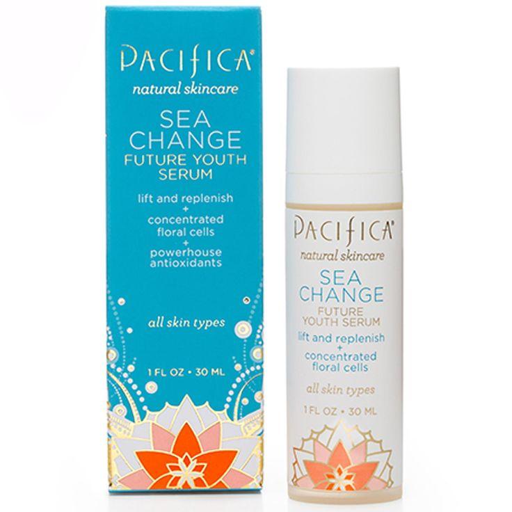 Pacifica Perfumes Inc, Natural Skincare, Sea Change, Future Youth Serum, All Skin Types, 1 fl oz