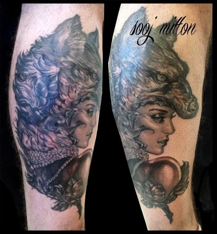 Best 25 Wolf Girl Tattoos Ideas On Pinterest: 20 Best Small Feminine Wolf Tattoo Images On Pinterest