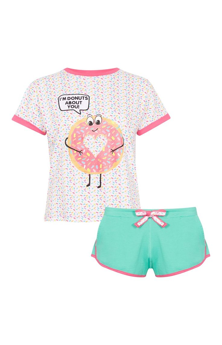Primark - Pijama corto estampado «Donut Care»