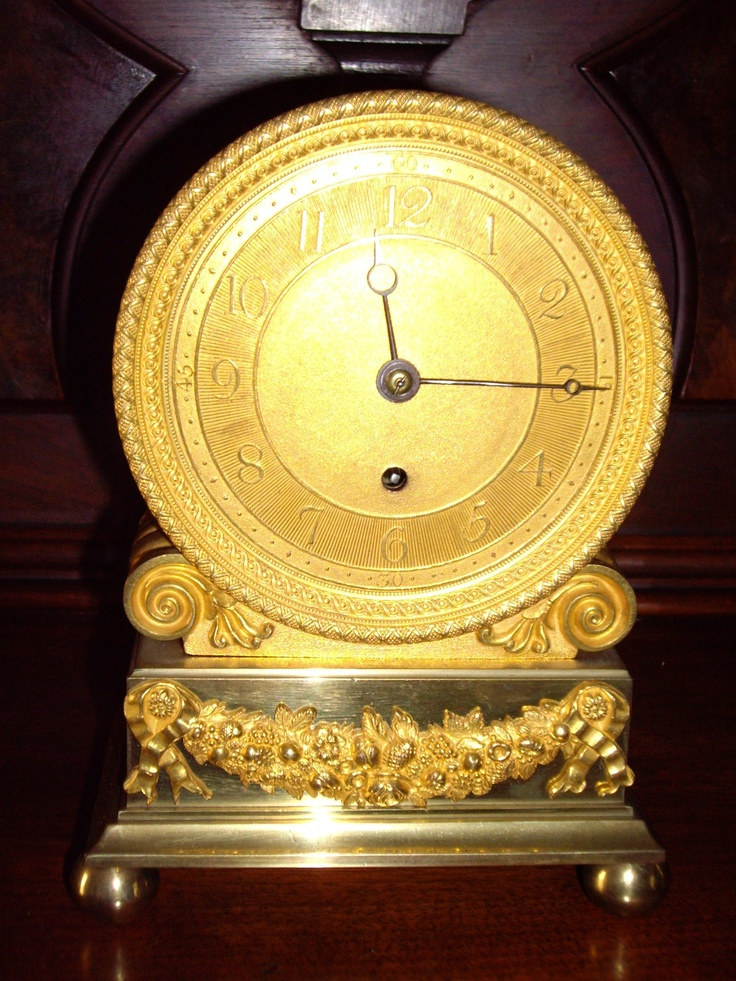 english london signed small clock antique