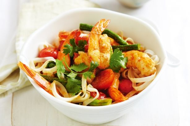 This simple noodle dish can be on the table in 30 minutes and is delicious! After all, who doesn't love a Thai curry?