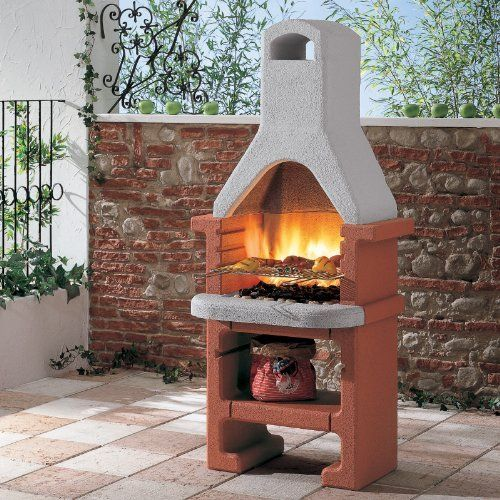 Masonry Barbecue with Stainless Steel 3 Level Grill, Tapered Flue and Storage Shelf for Wood or Charcoal. An attractive bbq for any patio.