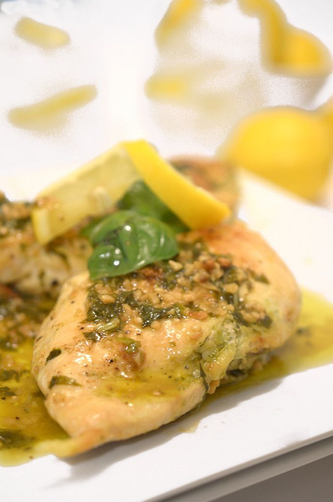 Roasted Chicken Breast With Citrus Glaze And Parsley Pesto ...