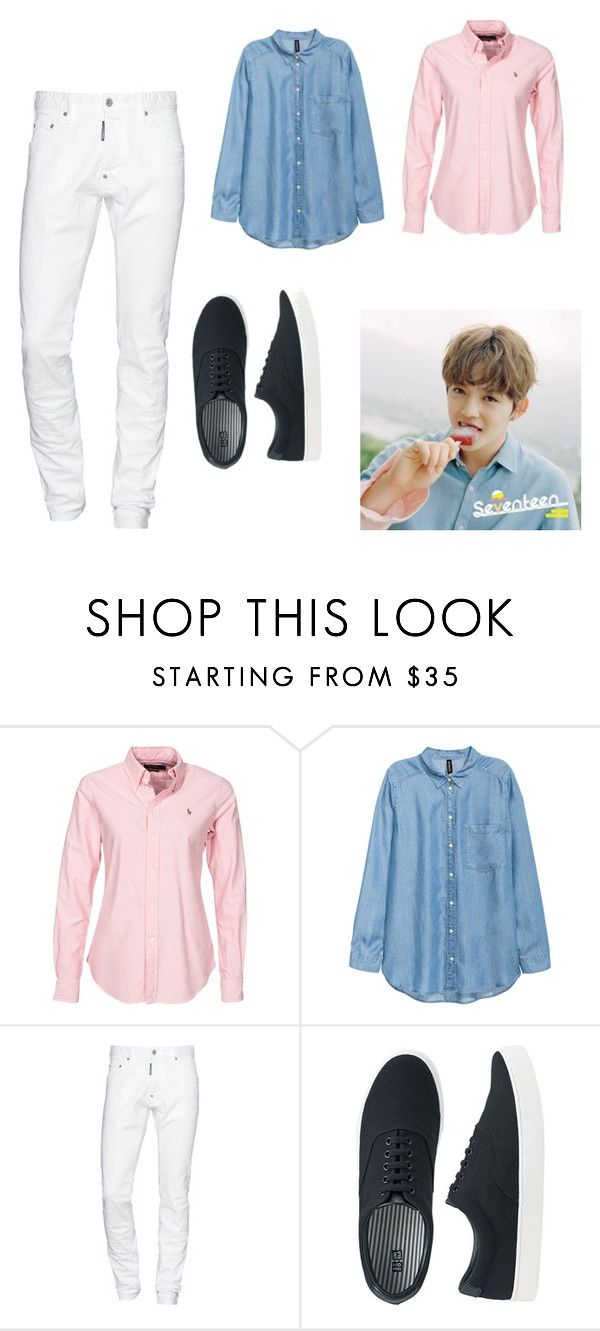 """S.Coups Inspired Outfit on Aju Nice Photoshoot"" by matetskieeeee on Polyvore featuring Polo Ralph Lauren, Dsquared2, Uniqlo, men's fashion and menswear"
