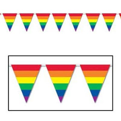 Rainbow party decoration - flag banner