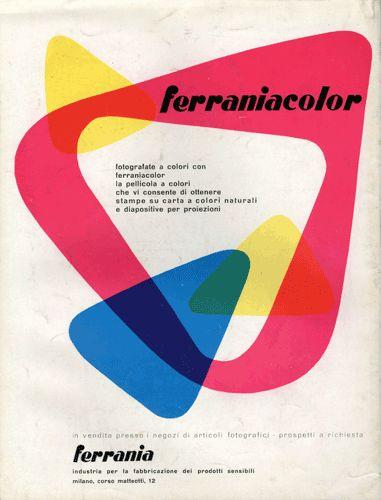 Mid-century Ferraniacolor ad