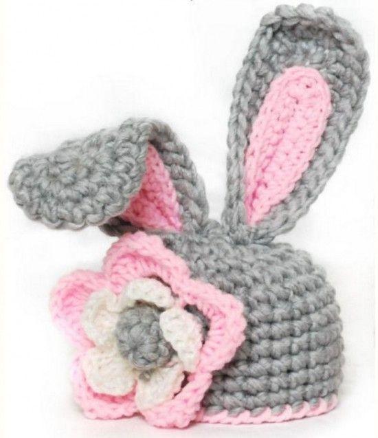 FabArtDIY Easter Crochet Projects and Tutorials 3 Bunny-Ears hat #crochet, #hat