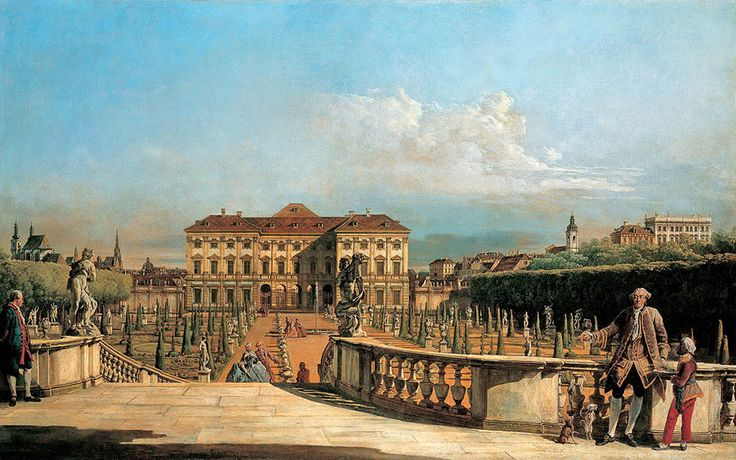 "Bellotto Bernardo - View Of Garden From Belvedere Palace Lihtenshtein 1760 Kuhi  (from <a href=""http://www.oldpainters.org/picture.php?/45945/category/15206""></a>)"