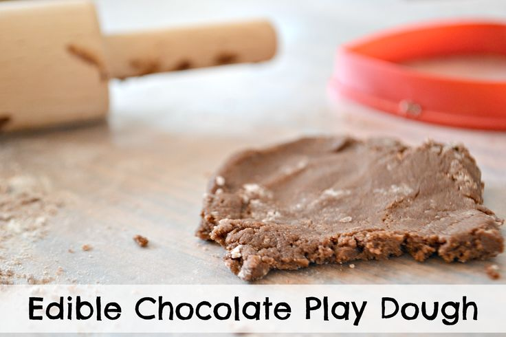 Edible Play Dough: (Dairy Free for little ones with allergies)  The dough the kids aren't playing with can even be baked into cookies!