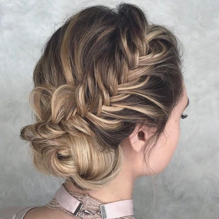 Chignon with French Fishtail - Cute hairstyles for long hair perfect for every season perfect for every season from everyday to wedding,wedding hairstyles