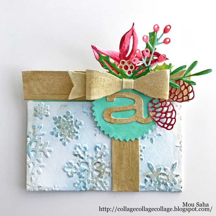 Festive Gift Card Package by Mou Saha using Tim Holtz dies for Sizzix