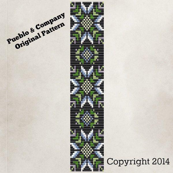 Indiaanse stijl Winter Flower Bead Loom Pattern instructies