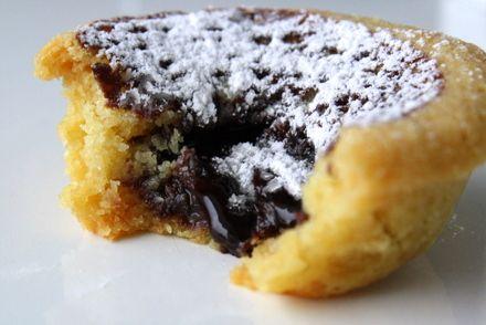 Söta bakverk kakor: Kakor med chokladfyllning