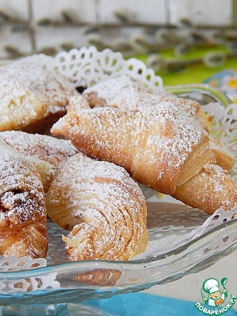 Медовые рожки с орехами - кулинарный рецепт
