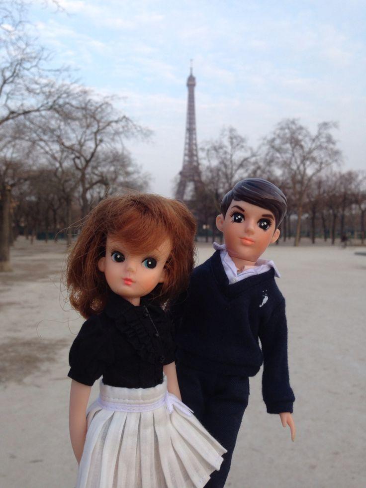 Lica chan and Wataru kun in Paris,2015