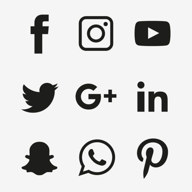 Conjunto De Icones Pretos De Midias Sociais Icones Sociais Icones Negros Media Icons Png E Vetor Para Download Gratuito In 2020 Icon Set Social Icons Social Media Icons