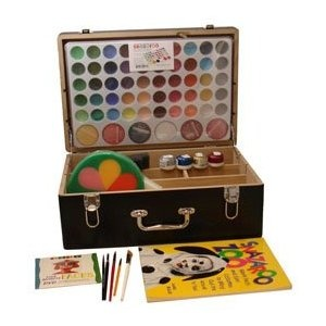 No joke i really want one of these, a professional face painting kit. Id use it all the time. so spendy though....