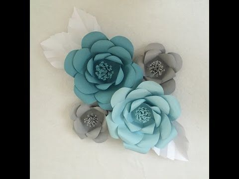 Paper Flower Backdrop - with template and video tutorial! Ash and Crafts