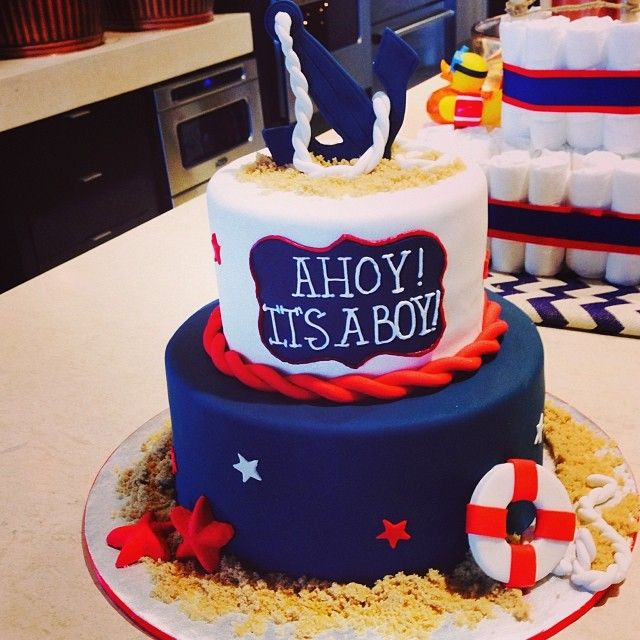 A Nautical Baby Shower  Ahoy Itu0027s A Boy