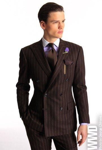Brown Double Breasted Suit | My Dress Tip