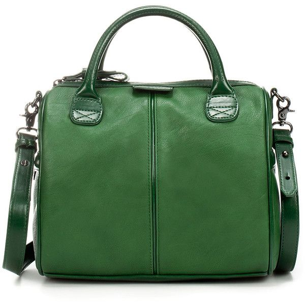 Mini Bowling Bag ($20) ❤ liked on Polyvore featuring bags, handbags, purses, bolsas, accessories, women, green purse, bowling bags, zara bags and man bag