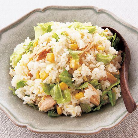 レタスチャーハン風炊き込みご飯 | 伊藤晶子さんの炊き込みご飯の料理レシピ | プロの簡単料理レシピはレタスクラブニュース