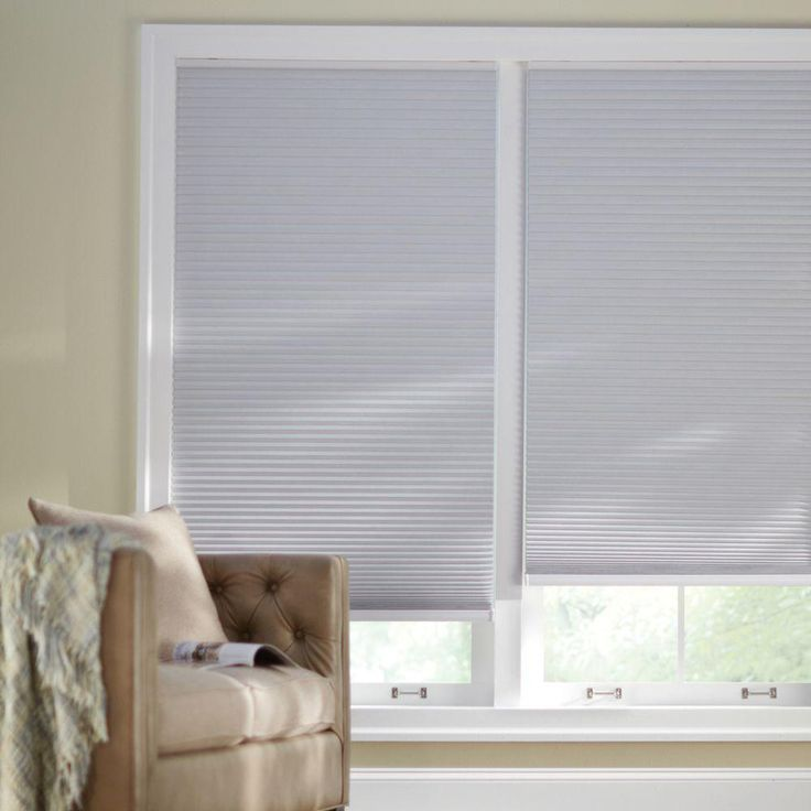 Home Decorators Collection Shadow White Cordless Blackout Cellular Shade 35 In W X 48 In L 10793478636433 The Home Depot Cellular Shades Blackout Cellular Shades Cordless Cellular Shades